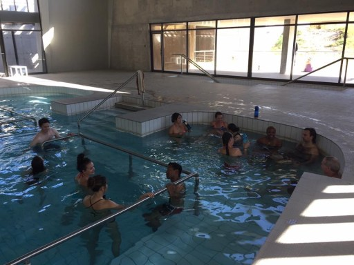 On this brisk and windy Namibian morning, the warm water of the indoor pool was soothing.