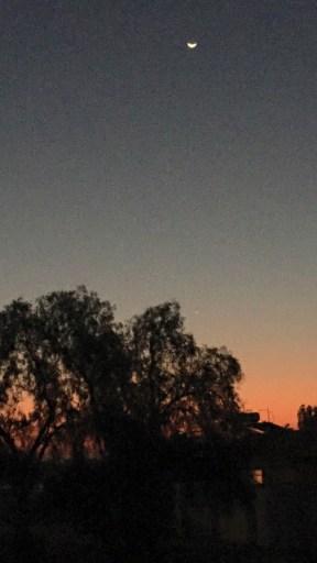 17 Sunset & new moon