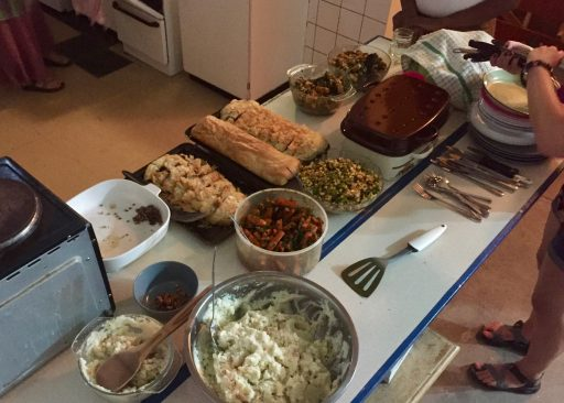 But nothing I do can compare with my talented PCV colleagues who prepared these delicious dishes for our Thanksgiving celebration together.