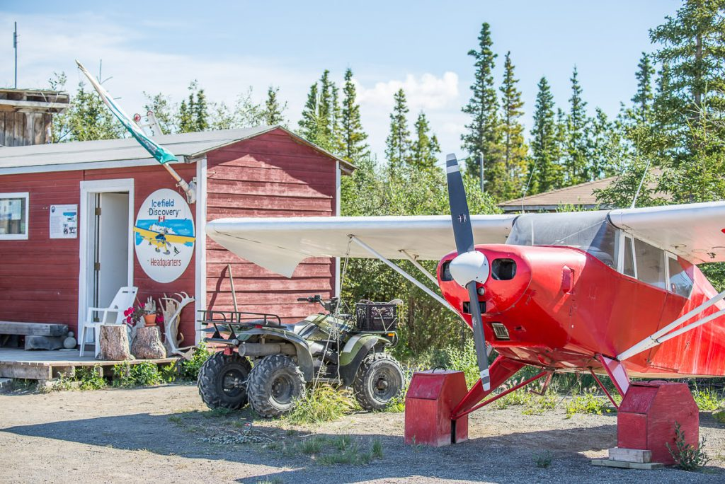 Red plane at Icefield Discovery in Yukon.