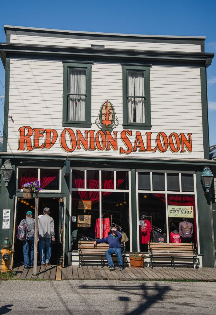 Red Onion Saloon an old historic brothel located in the gold mining town of Skagway, Alaska