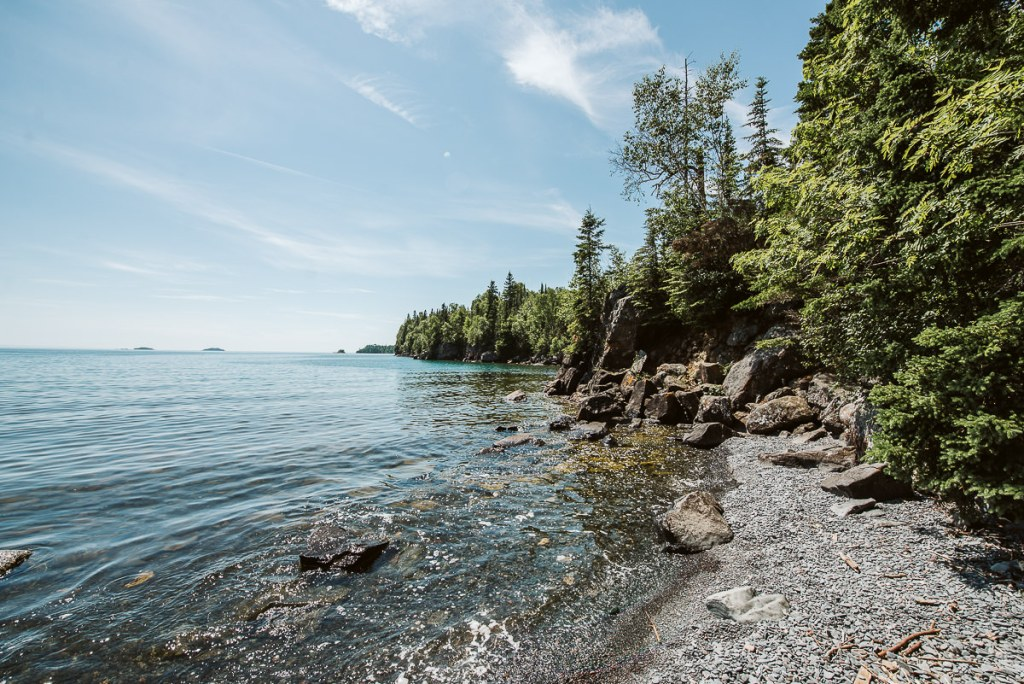 Shores of Lake Superior near the Sea Lion in Sleeping Giant Provincial Park.