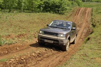 Off road in the Range Rover