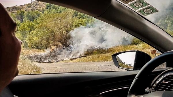 Feuer vor Mostar