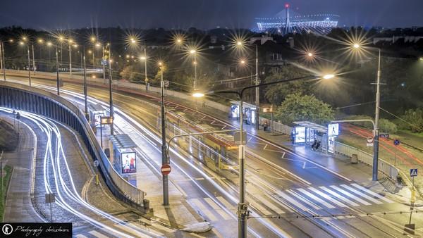 Viele Trams sind in der polnischen Hauptstadt unterwegs