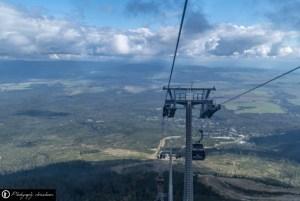 Drei Seilbahnen führen zum Gipfel
