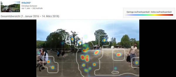 Heatmap bei 360-Grad-Videos auf YouTube