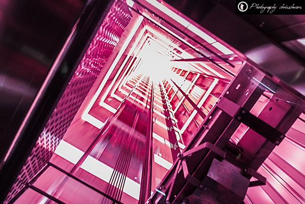 Aufzug zur Aussichtsplattform