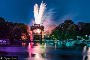 Feuerwerk am Schiffshebewerk zur Extraschicht 2018