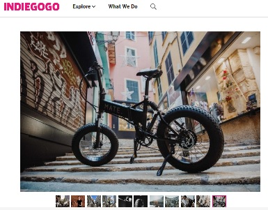 Mate X Bike (Quelle: Screenshot von Indiegogo.com)