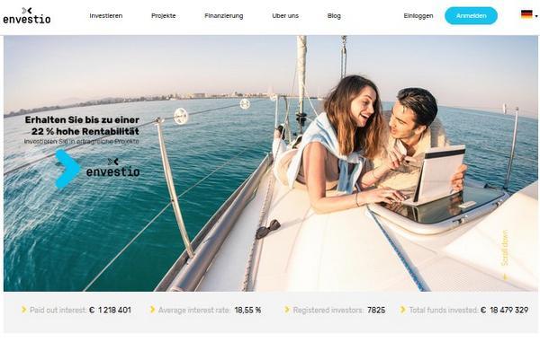Crowdinvesting-Plattform envestio (Screenshot)