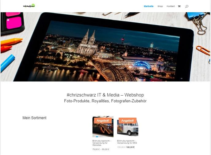 Webshop con #chrizschwarz IT & Media - Fotografie, Fotos, Nutzungsrechte