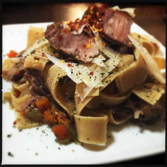 Osso Bucco over Pappardelle