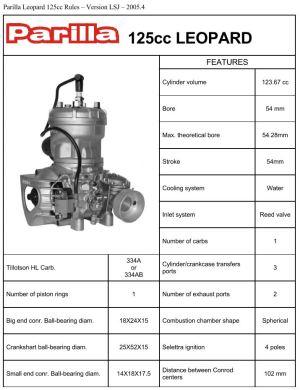 Parilla Leopard 125cc Rules | chrischemidlin
