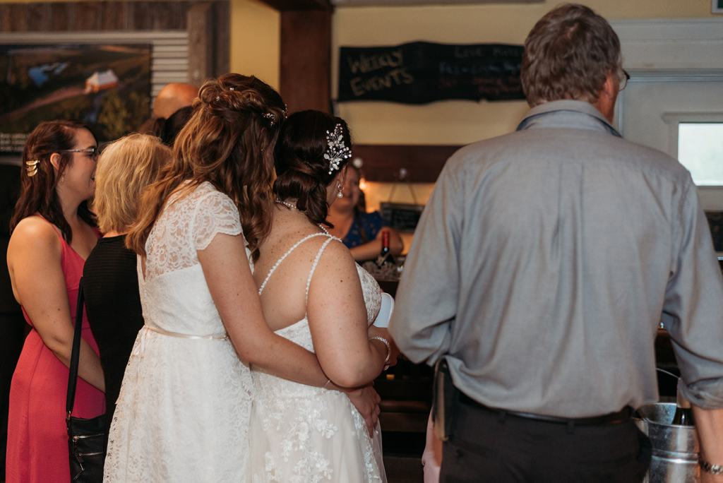 same sex hurricane wedding in Wolfville, Nova Scotia