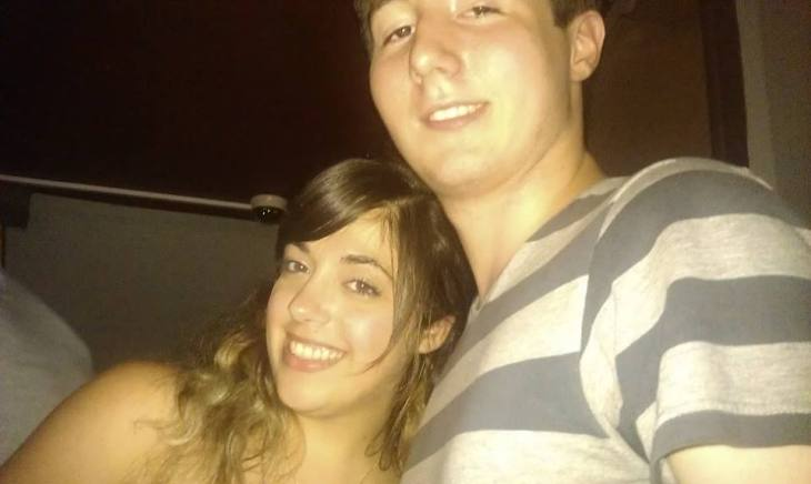 Chris and I during a night out in July 2013, only the second time we hung out together with our group of friends.