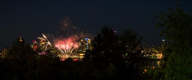 Canada day - fireworks header