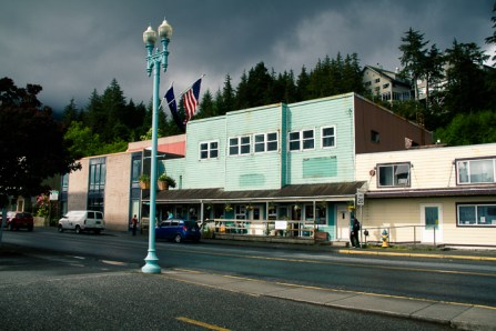 One pair of the 1 million (USA) flags in Ketchikan