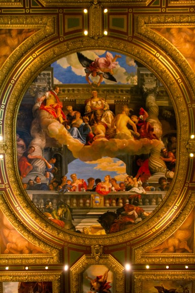 A ceiling painting