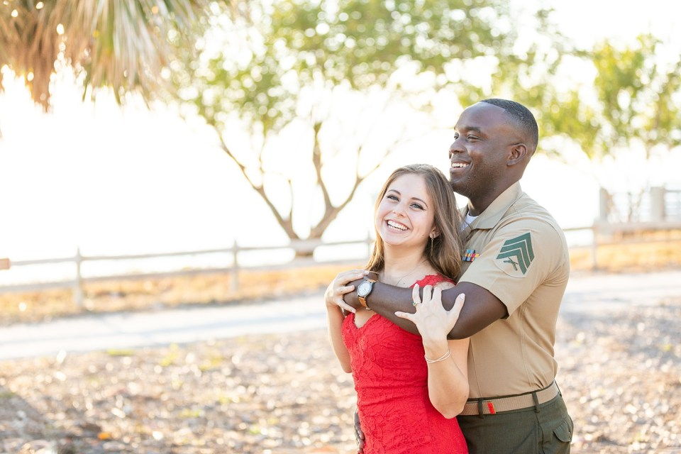 A US Marine and an event planner's Key Biscayne Engagement Session at Bill Baggs State Park in Miami, Florida | Chris Sosa Photography