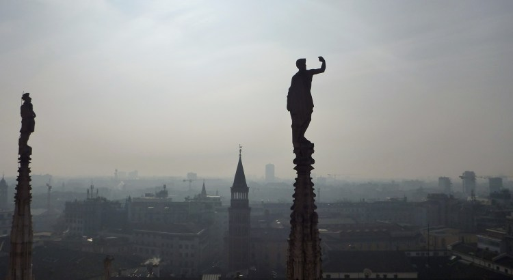 Picture taken from Milan Cathedral (Duomo di Milano)
