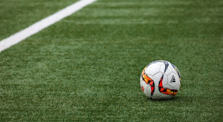 Picture of a football on turf