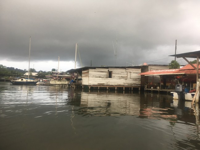 Picture of the dock at Almirante in Panama