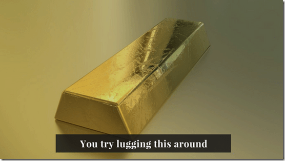 gold bar, printing money, inflation, chrisbabu.com