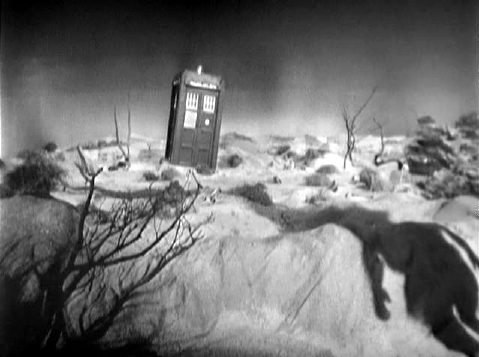 Shadow approaching the TARDIS at end of Episode 1, An Unearthly Child