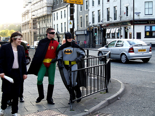Batman and Robin, by iambigred, via a Creative Commons Attribution-Non-Commercial License.