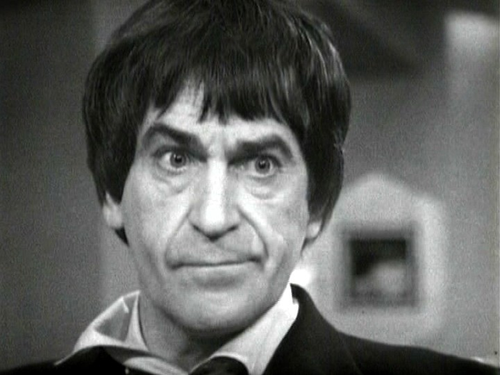 A bemused Second Doctor
