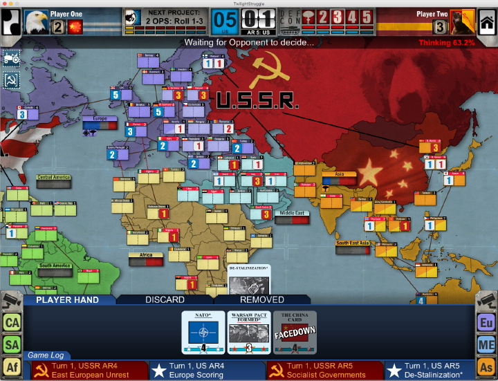 Early Access Twilight Struggle Digital Edition Interface