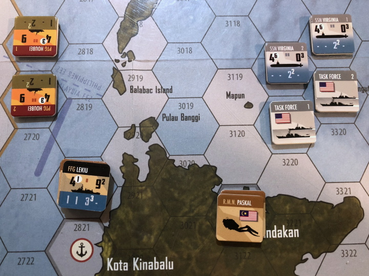 South China Sea by Compass Games: Mayalsian frogmen