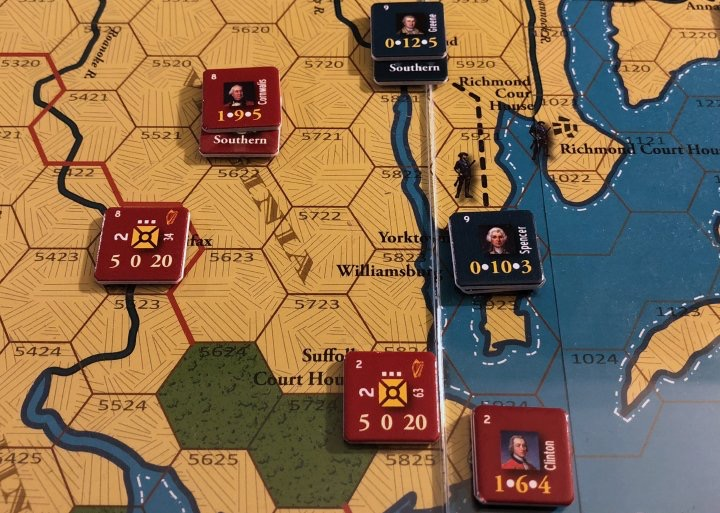End of Empire, Turn 14, British disposition in Virginia