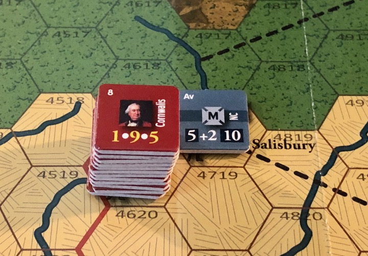 End of Empire, Turn 9, Cornwallis stymied outside Salisbury