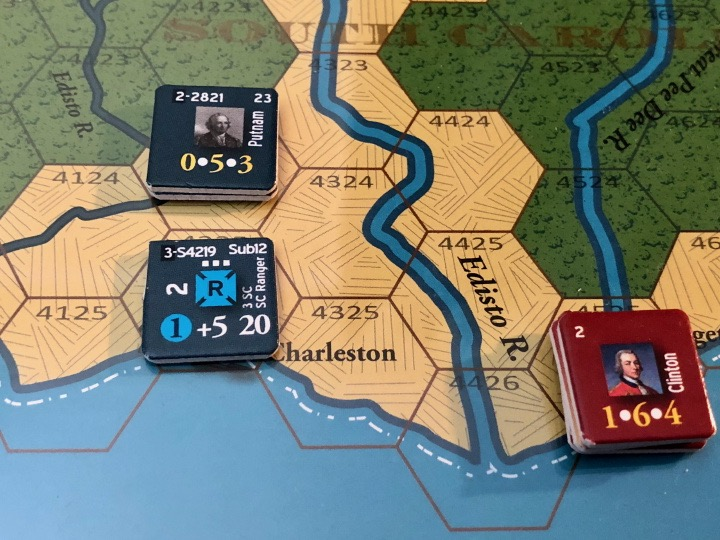 End of Empire, Turn 7, South Carolina Rangers enter Charleston