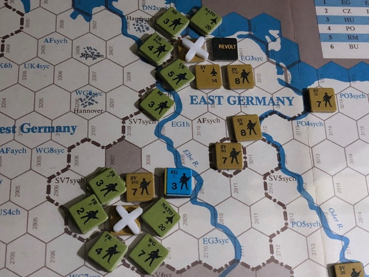 Revolt in the East, Turn 4, Initial NATO assaults