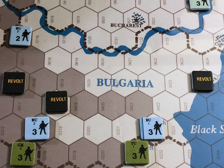Revolt in the East, Turn 2, Situation in Bulgaria