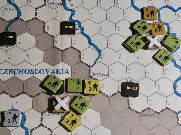Revolt in the East, Turn 9, Combat in Czechoslovakia