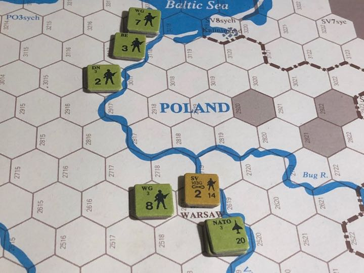 Revolt in the East, Turn 8, NATO defensive lines on the Vistula