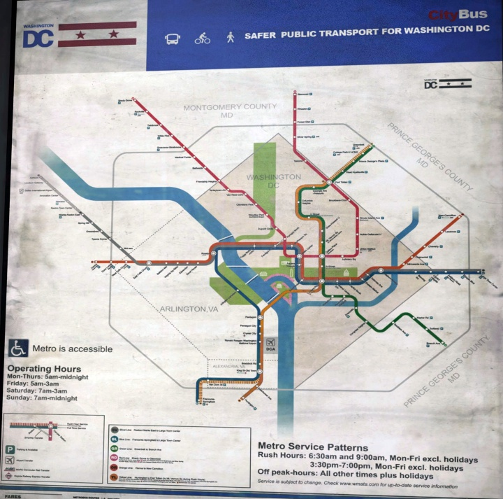 The DC Metro Map in The Division 2
