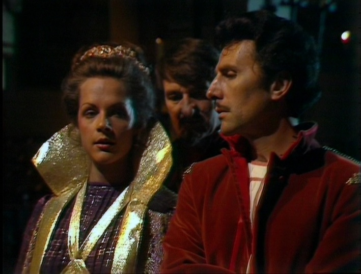 Romana (as Strella), Count Grendel, and King Reynart (the real one)