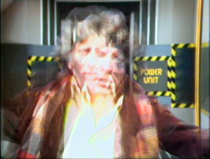The Fourth Doctor encountering a dimensional instability