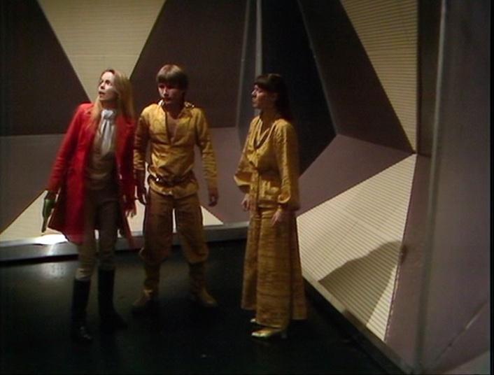 Romana, Seth, and Teka in the labyrinth