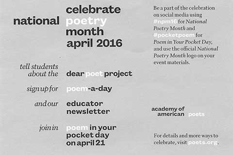 0011 national poetry month
