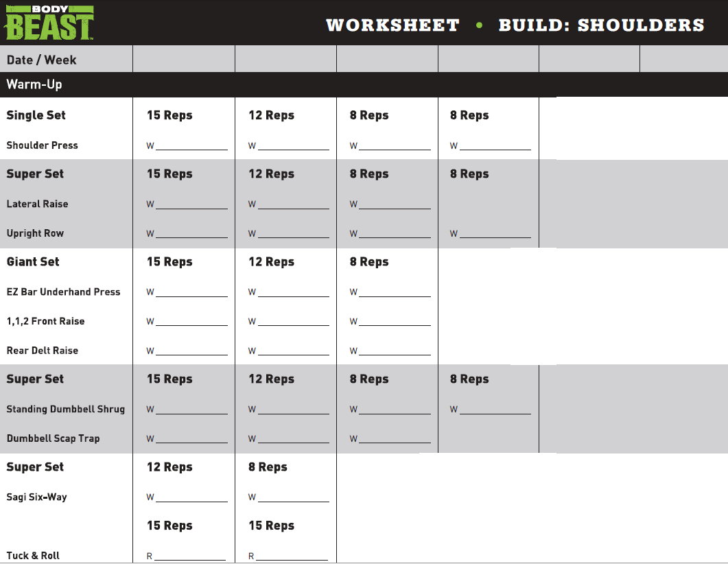 How Long Is Body Beast Shoulders Workout
