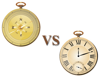 Compass vs. The Clock, Put First Things First