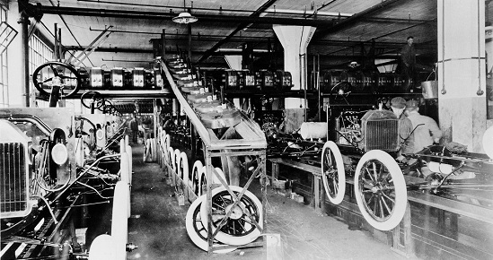 Ford Aseembly Line for Model T Cars