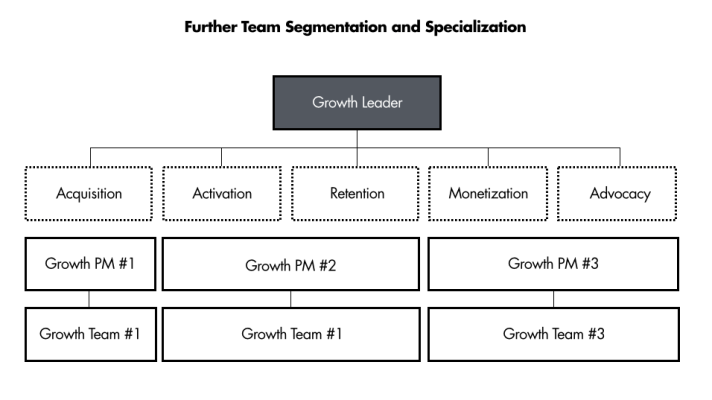 larger company growth team org structure