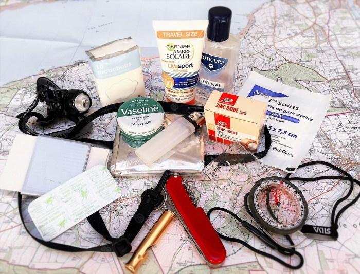 Trekking safety kit